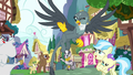 Gabby waving to the ponies she helped S6E19.png