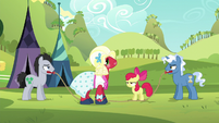 Orchard Blossom pleased; Apple Bloom annoyed S5E17