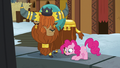 Pinkie Pie admiring the Yakyakistan fire pit S7E11.png