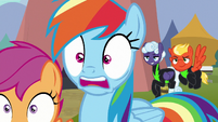 Rainbow Dash shocked to see Lightning Dust S8E20
