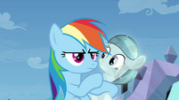 Rainbow Dash suddenly serious S03E12