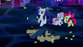 Rarity and Crusaders shocked; Filthy Rich falls S5E13.png