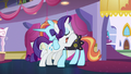 Rarity hugging Sassy Saddles again S5E14.png