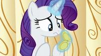 Rarity looks at pocketwatch once more S6E10