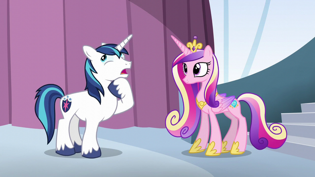 """File:Shining Armor """"all we need is"""" S6E1.png"""