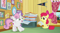 "Sweetie Belle ""three puppy paw prints"" S7E6"