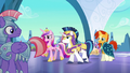 Cadance, Shining Armor, and Sunburst arrive S6E16.png