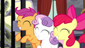 Cutie Mark Crusaders grinning happily S5E6.png