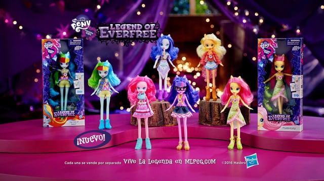 Muñecas My Little Pony Equestria Girls La Leyenda de Everfree - América Latina - Primer anuncio