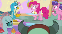 Pinkie Pie explains her sharing lesson S8E12