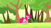 Pinkie trotting through a dream meadow S5E13