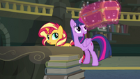 Princess Twilight levitating a large chest EGFF