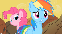Rainbow Dash and Pinkie Pie confused S01E21