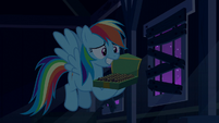 Rainbow Dash grinning embarrassed S6E15