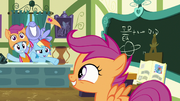 Rainbow and parents appear to cheer for Scootaloo S7E7