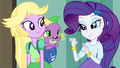 "Rarity ""we'll need a disguise for your dog"" EG.png"
