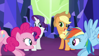 Rarity and AJ joined by Pinkie and RD S4E26