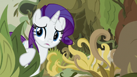 Rarity pushing through the overgrowth S7E25