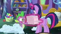 Spike offering more help to Twilight S8E11
