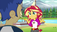 Sunset Shimmer asking for Flash Sentry's opinion EG4