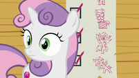 Sweetie Belle hears the sound of crying S8E12