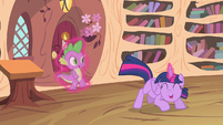 Twilight Sparkle hopping around S4E11