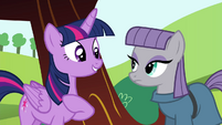 Twilight introducing herself to Maud S4E18
