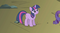 Twilight looks up at Rainbow Dash S1E07