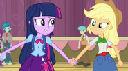 Twilight takes Applejack's hand EG2