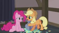 AJ wishing Pinkie a happy Hearth's Warming S5E20