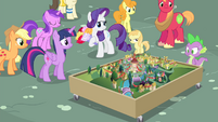 A small-scale model of Ponyville S4E13