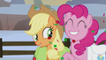 Applejack and Pinkie Pie optimistic S5E20.png