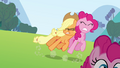 Applejack pushes the Pinkie clone S3E03.png
