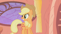 Applejack watches Rarity complete her dare S1E08