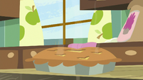 Baked pie sitting on the table S8E10