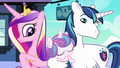 Cadance and Shining Armor look at their baby S6E2.png