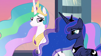 Celestia and Luna smile at each other S9E26