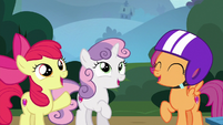 Cutie Mark Crusaders shout with confidence S6E19