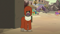 Dr. Caballeron appears in a cloak disguise S7E18.png