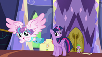 Flurry Heart flies away from Twilight S7E3