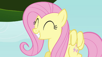 Fluttershy smiling at chicks S4E04