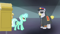 Lyra steps through magic-disabling device S4E24