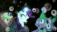 Main cast in cave of hanging -eyeballs- S5E21