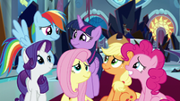Mane Six inspired by Discord's words S9E2