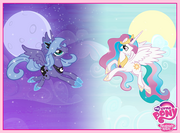 Princesa Celestia y Princesa Luna