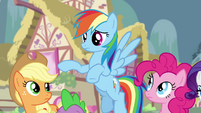 "Rainbow Dash ""what are you supposed to do"" S4E25"