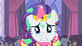 Rarity about to fling cake on Blueblood S1E26.png