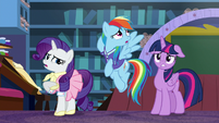 Rarity and Dash unable to think of anything else S8E17