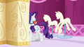 Rarity stepping behind a curtain S6E6.png