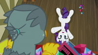 Rarity surprised to see Gabby S9E19